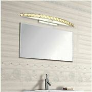 Luxury Crystal Led Mirror Front Light Vanity Stainless Steel Cabinet Wall Lamp