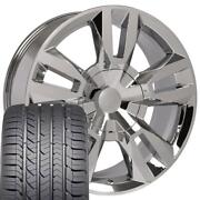 22x9 Chrome 5821 Wheels And Goodyear Tires Set Fits Chevy Tahoe Rst Rally