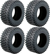 Four 4 Moose Insurgent Atv Tires Set 2 Front 30x10-14 And 2 Rear 30x10-14