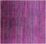7and039 Square Wool And Silk Super Savannah Gabbeh Hand Knotted Rug - Q6095