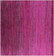 7and039 Square Wool And Silk Gabbeh Savannah Grass Hand Knotted Rug - Q6096
