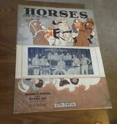 Vintage Sheet Music - Horses A Funny Fox Trot Song Pfeiffers Orchestra 1926