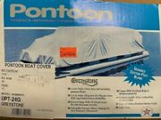 Pontoon Boat Cover I/o 22-24 X 96 - New In The Box Grey Cotton/poly Fabric