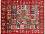 5' 8 X 7' 6 Hand-knotted Tribal Gabbeh Rug - Q4942