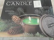 Collectible Dutch Oven Candle New 3/4 Quart Evergreen Camp Chef