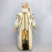 Moonstruck Cream Santa 32 Inches In Height - By Katherine's Collection