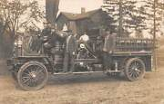 West Haven, Ct, Fire Dept Men Posing On A Combination Vehicle, Rppc Used 1912