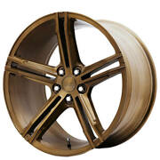 4ea 19 Staggered Verde Wheels Vff03 Brushed Gloss Bronze Rimss41