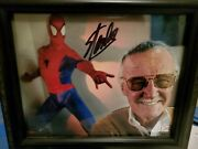 Authentic 8x10 Stan Lee Signed Photo With Frameandnbsp