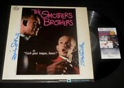 Smothers Brothers Tom And Dick Autographed Album Curb Your Tongue - Jsa Coa