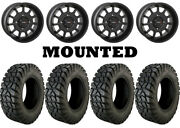 Kit 4 Moose Rigid Tires 32x10-15 On System 3 St-5 Matte Black Wheels 550