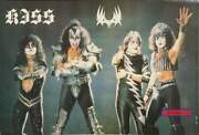 Kiss Rock Band Live On Stage With Logo Vintage Poster 23.5 X 34.5 Gene Simmons P