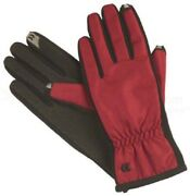 Isotoner Women's Smartouch Gloves-ultra Plush Lined, Red, M/l