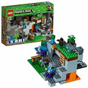 Lego Minecraft The Zombie Cave 21141 Steve And Zombie Figure + Building Kit 241pcs