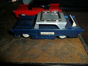2 Lot Rare Version Vintage Airport Limousine Taxi Tin Friction Japan And Red Car