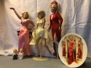 Marilyn Monroe 3 Porcelin Dolls Sandp Shakers Andandnbspcollectible Plate
