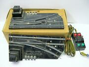 Pair Of 720a American Flyer Switch Tracks W/ Controller In Ob [lot 11-a22]