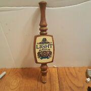 Vintage Schlitz Wooden Beer Tap Handle 11 Inches Special Lager - Rare - Gold Sun