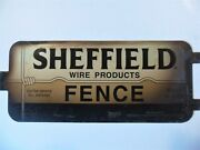 Old Wire Fence Sign Western Horse Cattle Ranch Vintage Barbed Wire 2 Sided Metal