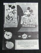1970 Mickey Mouse Merchandise Catalog 9x12 Page Gd 2.0 Watches And Bubble Buster