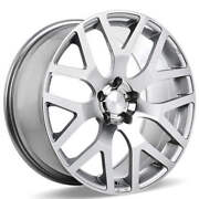 4ea 22 Ace Alloy Wheels Aff07 Silver With Machined Face Rimss42