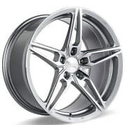 4ea 19 Staggered Ace Alloy Wheels Aff01 Silver With Machined Face Rimss42