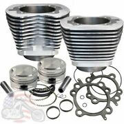 Sands Cycle 95 Twin Cam Engine Motor Big Bore Kit Natural Cylinders Pistons Harley