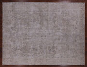 9and039 8 X 12and039 8 Vintage White Wash Hand Knotted Wool Area Rug - Q2574