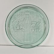 Vintage 13 Green Glass Coca Cola Platter Preowned