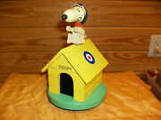 Snoopy Flying Ace Musical Dog House In The Original Box Rare