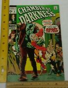 Chamber Of Darkness 8 Comic Book 1970s Vf Marvel Horror Wrightsoncover