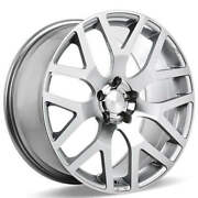 4ea 22 Ace Alloy Wheels Aff07 Silver With Machined Face Rimss43