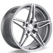 4ea 20 Ace Alloy Wheels Aff01 Silver With Machined Face Rimss43