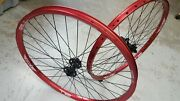 Halo T2 Disc Wheels 26 Spin Doctor Hubs Axle Options Mountain Bike Red