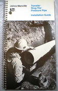 Johns-manville Transite Pipe Manual Cutting Instructions 1979 Asbestos Dust