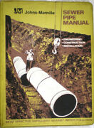 Johns-manville Sewer Pipe Transite Asbestos Dust Installation Manual 1970and039s