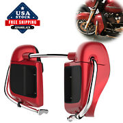 Advanblack Wicked Red Rushmore Lower Vented Fairings 14+ Harley Davidson Touring