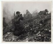 1951 7th Division Combat Photographer Wilfred Hunkins In Action Korea News Photo