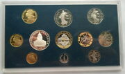 France 1993 Mont St. Michel Proof Mint Set Of 11 Coins,with Silver Coin,proof