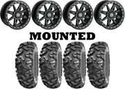 Kit 4 Sti Roctane Xd Tires 32x10-14 On Moose 544x Beadlock Black Wheels H700