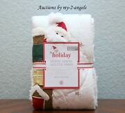 New Pottery Barn Kids Merry Santa Quilt-ed Euro Sham Christmas Holiday Sold Out