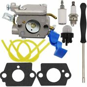 Carburetor With Fuel Line Kit Replacement For Husqvarna 125b 125bx 125bvx Blower