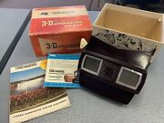 Vintage 1950 3d Dimension View-master Viewer Model E Bakelite With Inserts