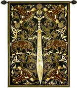 63x45 Celtic Warrior Sword Medieval Decor Tapestry Wall Hanging