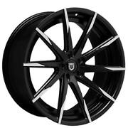 4ea 22 Staggered Lexani Wheels Css-15 Black W Machined Tips Rims S42