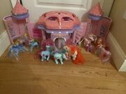 2005 Hasbro My Little Pony Pop Up Crystal Rainbow Castle W/ G1 Ponies And More