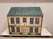Vintage Marx 1950s 1776 Locust Yeartin Lithograph Metal 2 Story Dollhouse Only