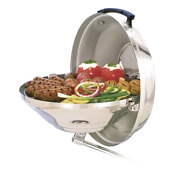 Magma Marine Boat Kettle Charcoal Grill With Hinged Lid Stainless Steel Cooker