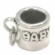 Babies Cup Sterling Silver Charm .925 X 1 Baby Drinking Cups_
