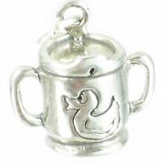 Baby Sipper Cup Sterling Silver Charm .925 X 1 Babys Babies Cups Charms_